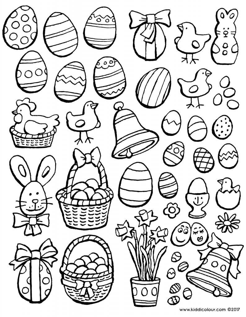 Easter decoration colouring page drawing picture 01V
