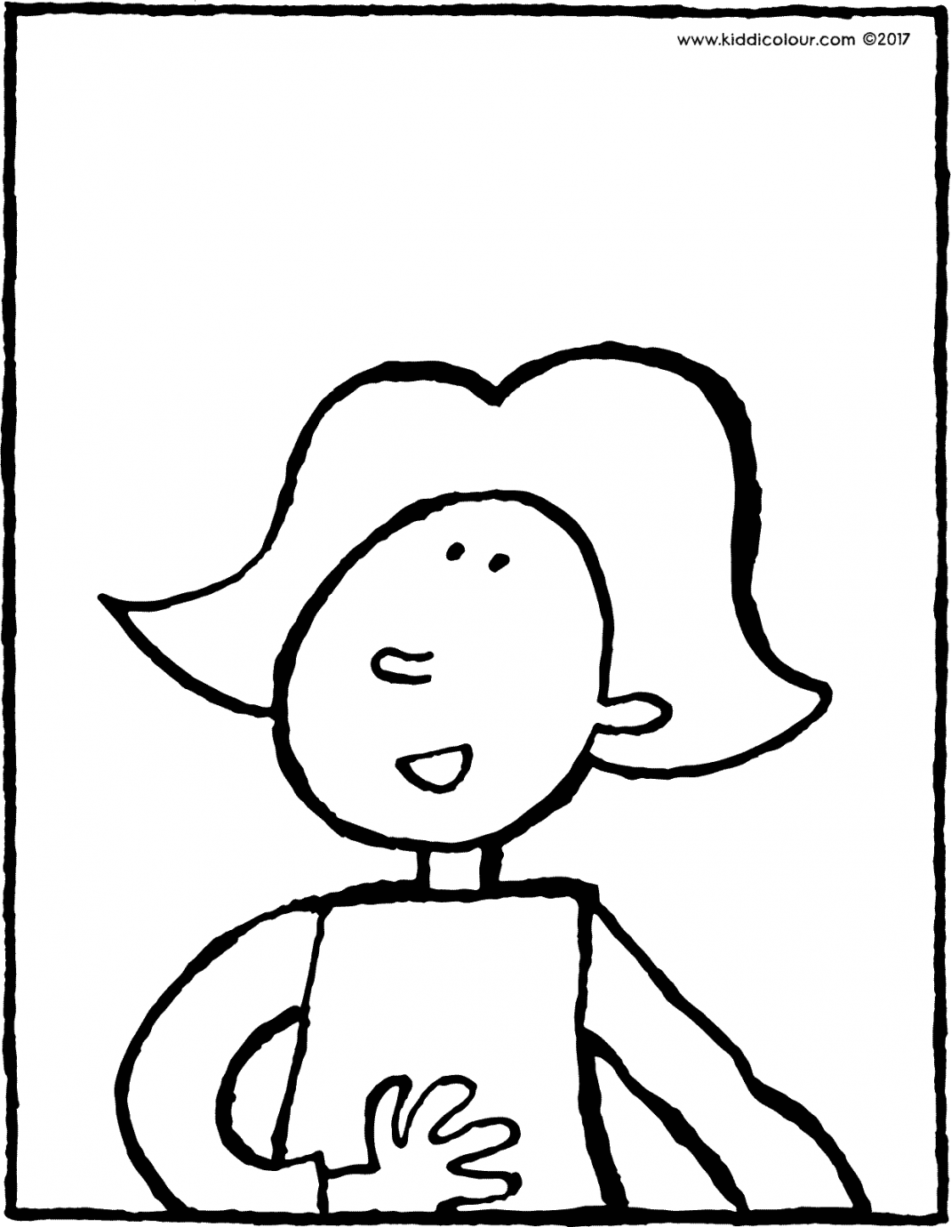 Emma colouring page drawing picture 01V