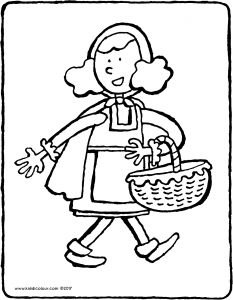 Little Red Riding Hood with basket