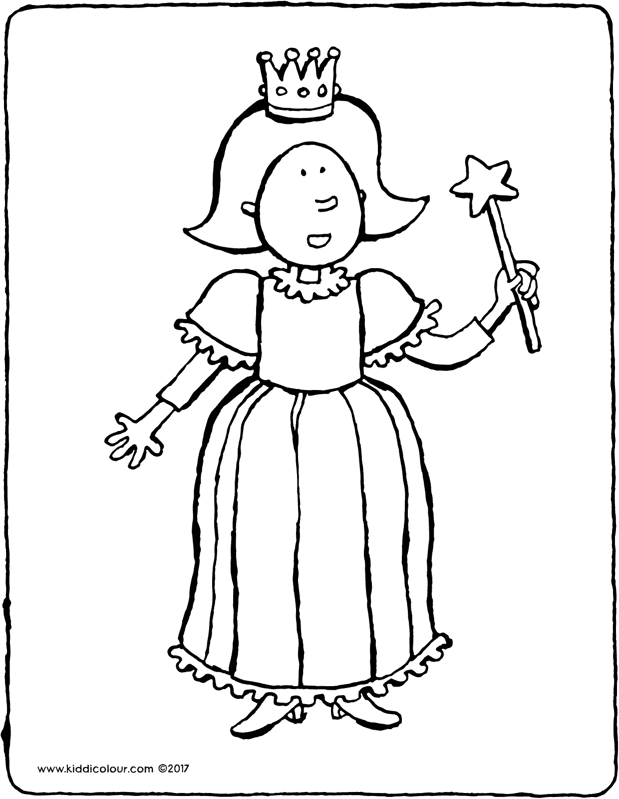 Princess Emma colouring page drawing picture 01V