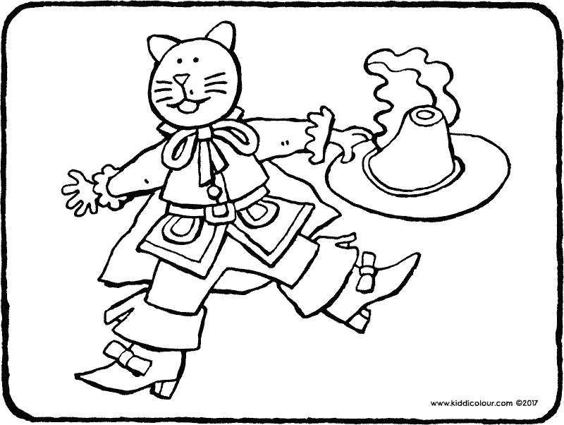 Puss in Boots colouring page drawing picture 01k