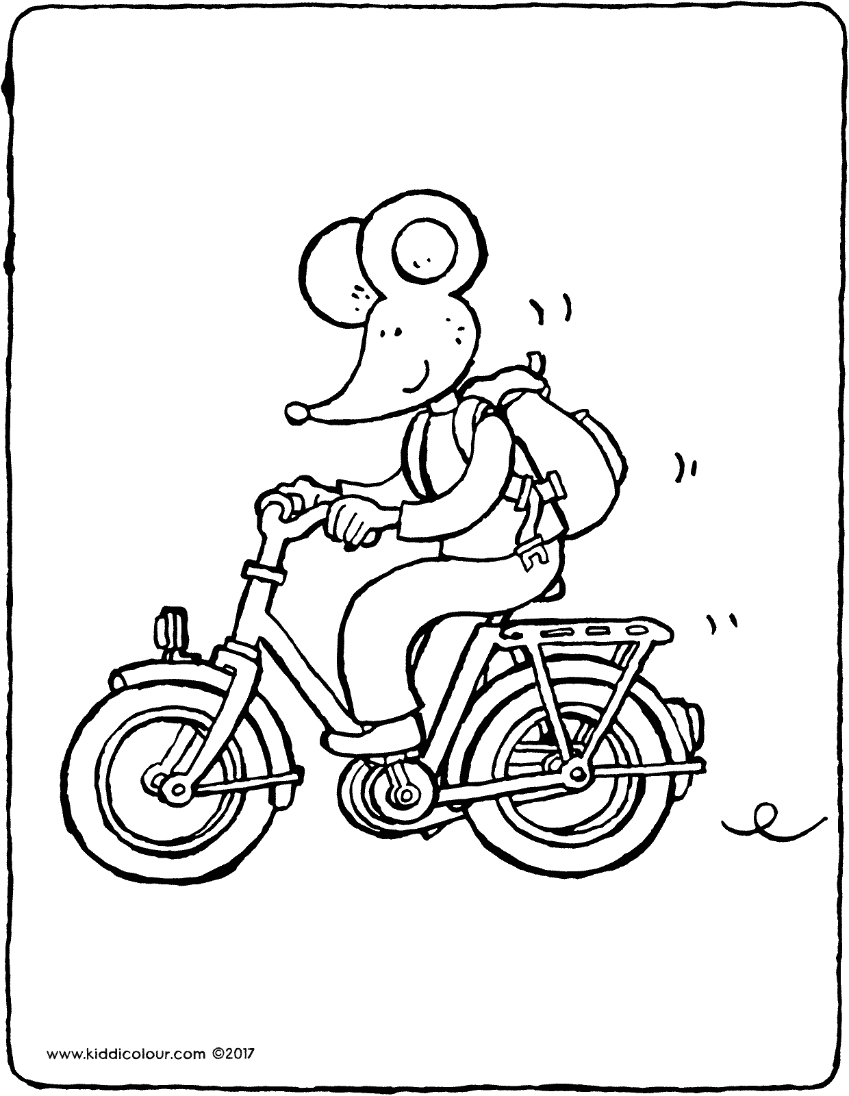 Thomas's bicycle colouring page drawing picture 01V