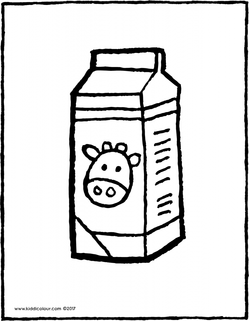 a carton of milk colouring page drawing picture 01V