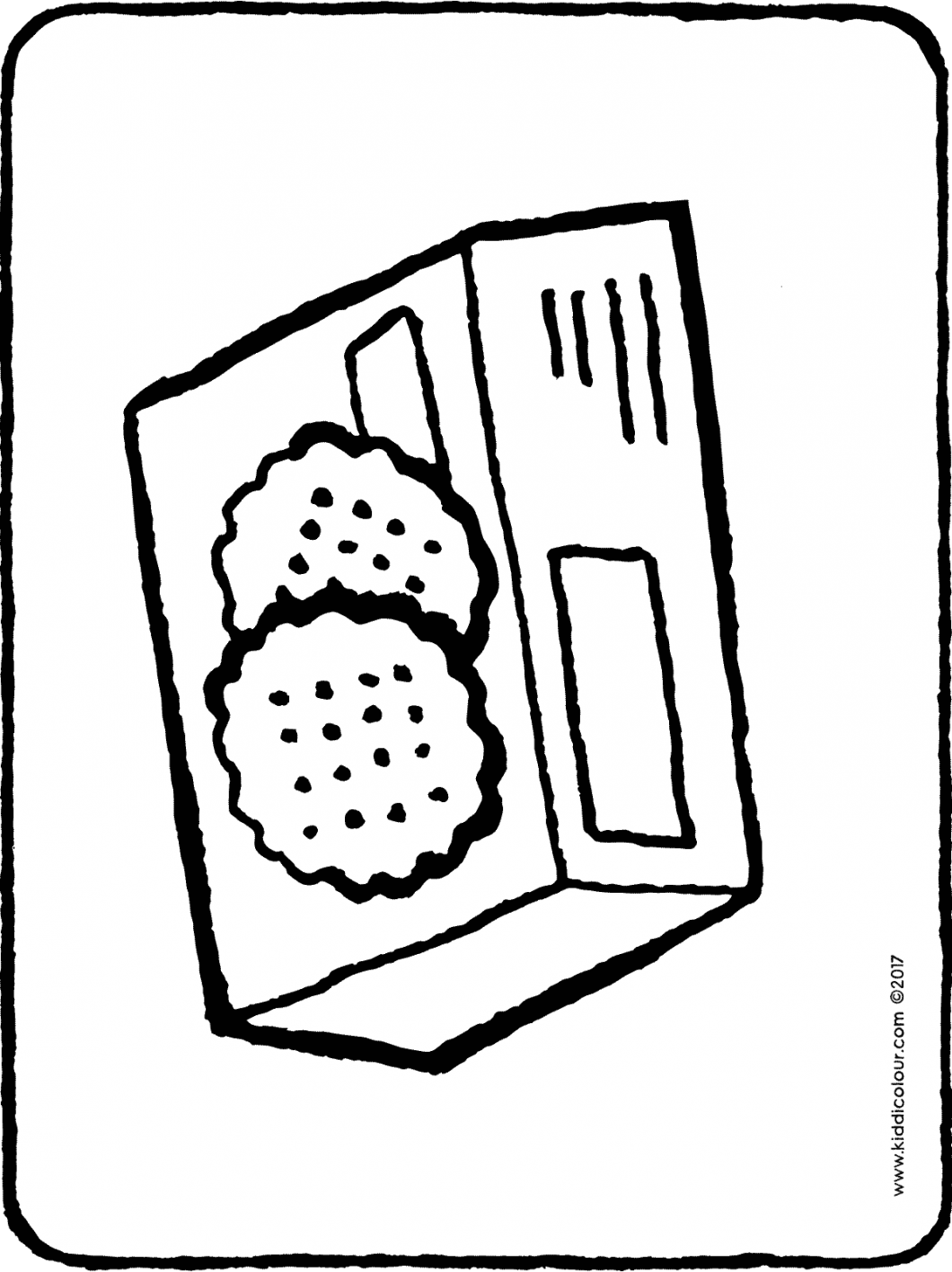 a packet of yummy cookies colouring page drawing picture 01H