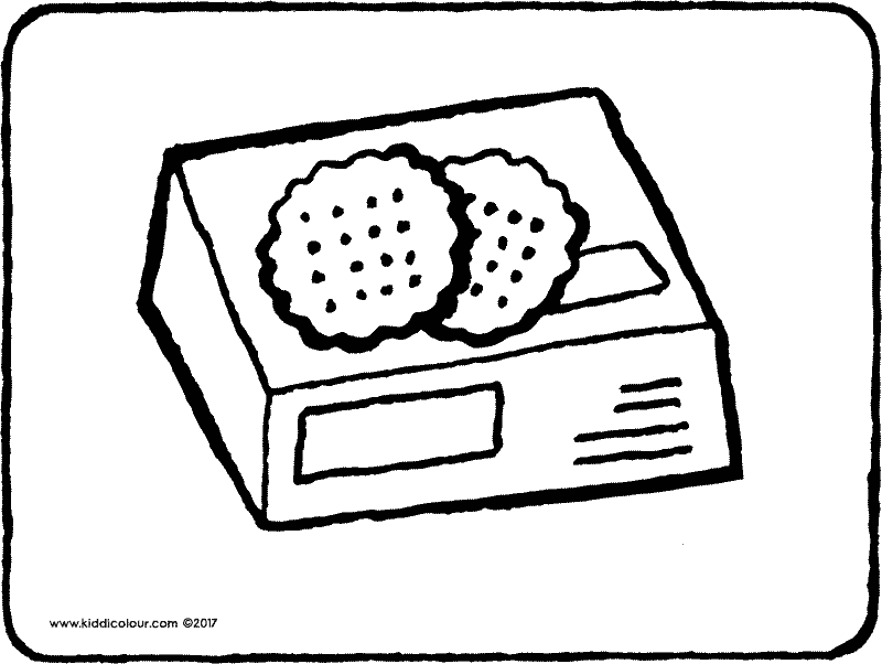 a packet of yummy cookies colouring page drawing picture 01k
