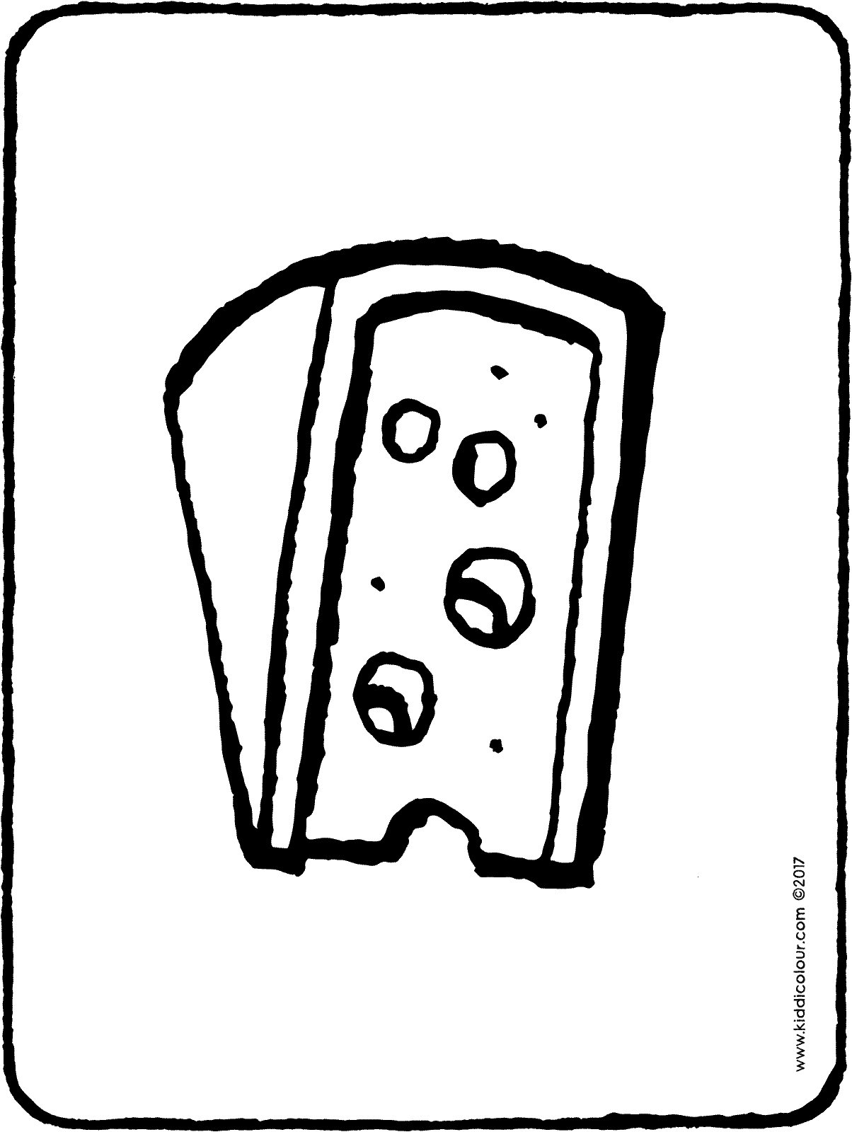 a piece of cheese colouring page drawing picture 01H