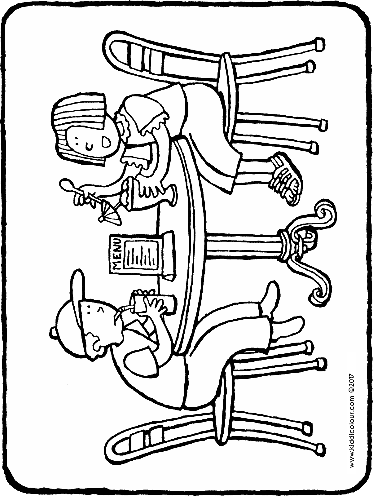 an ice-cream and a milkshake colouring page drawing picture 01H