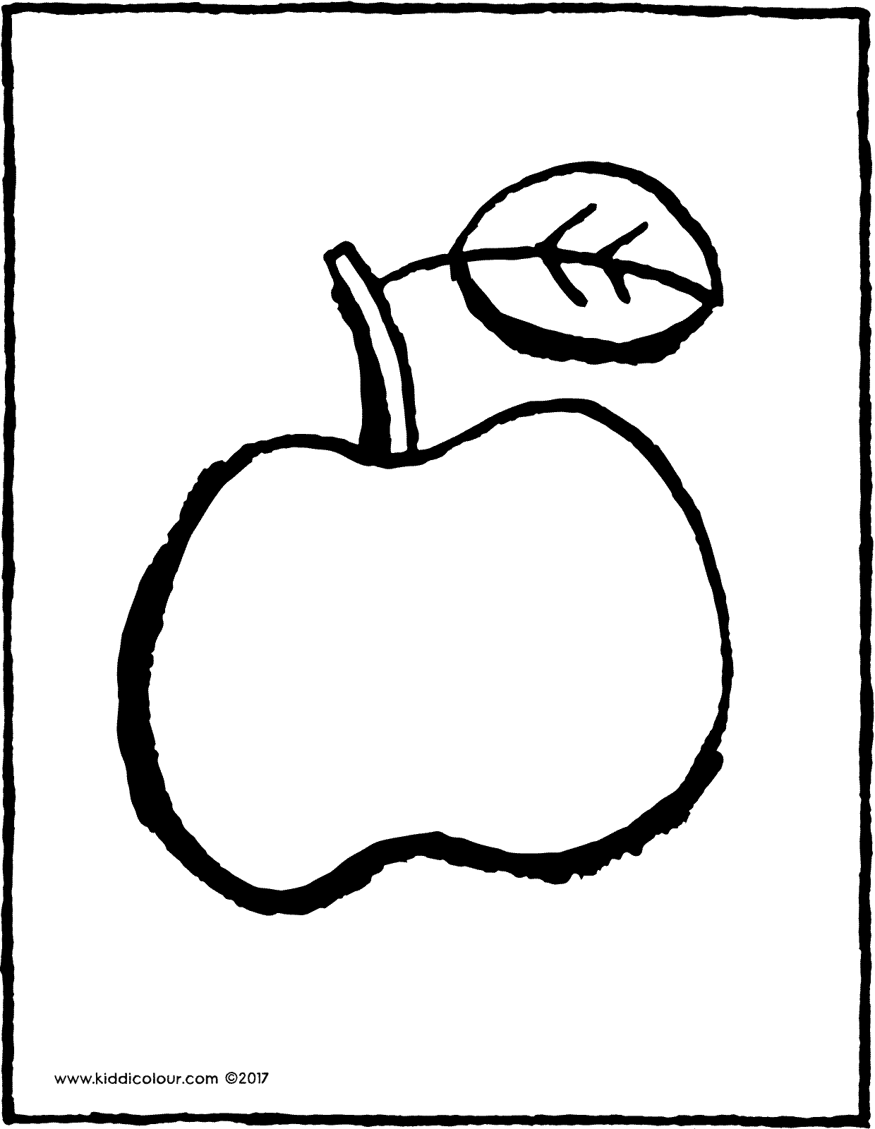 apple colouring page drawing picture 01V