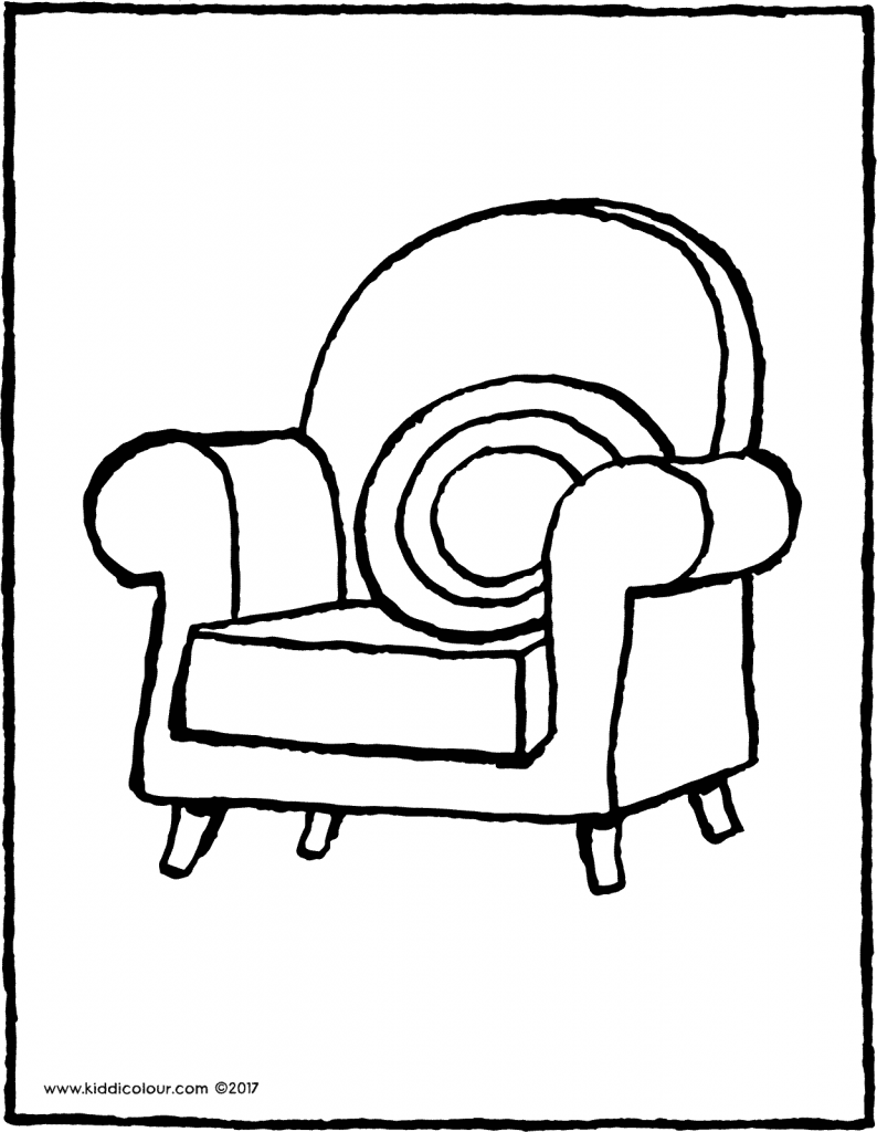 armchair colouring page drawing picture 01V