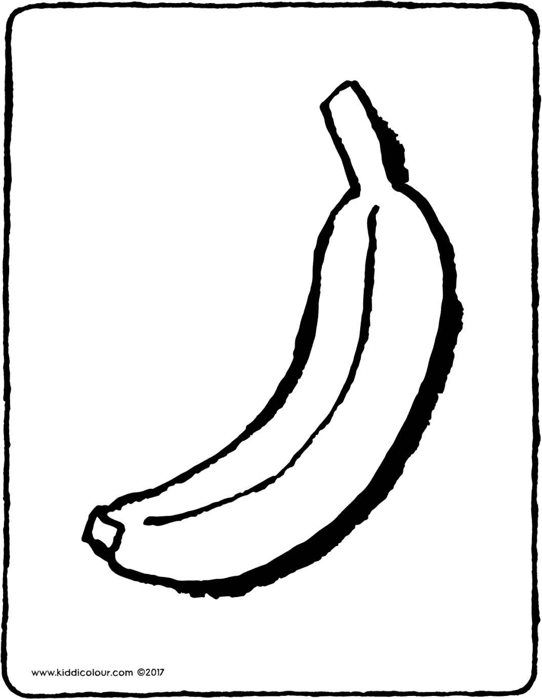 banana colouring page drawing picture 01V