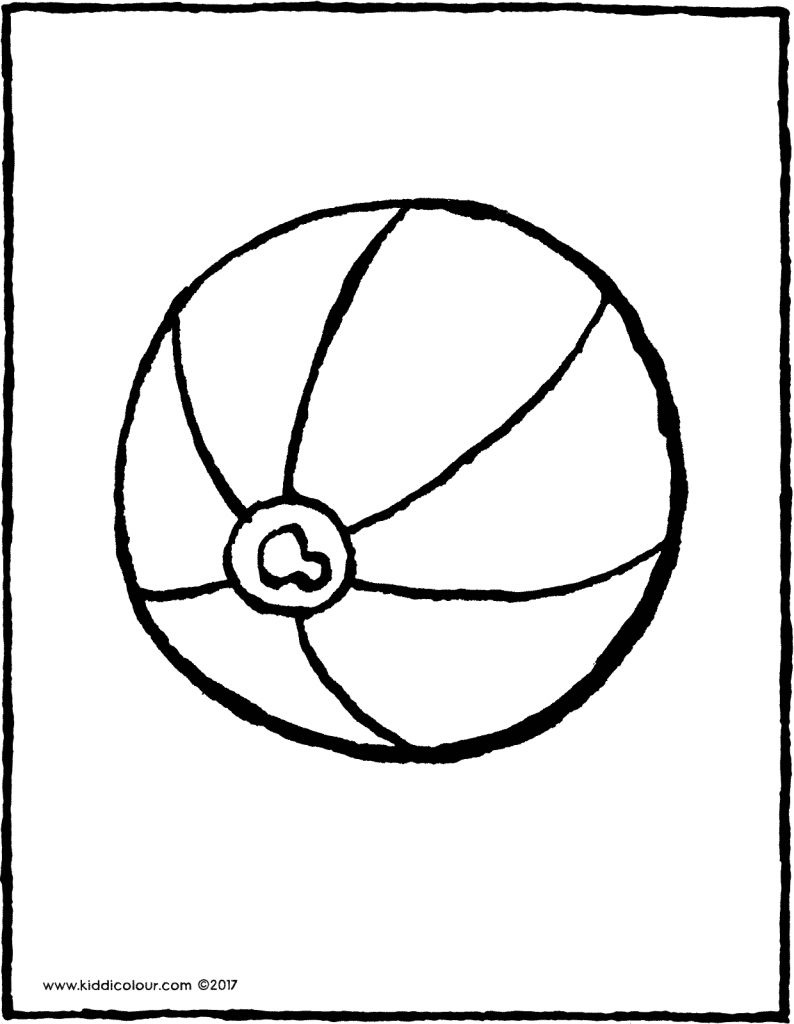 beach ball colouring page drawing picture 01V