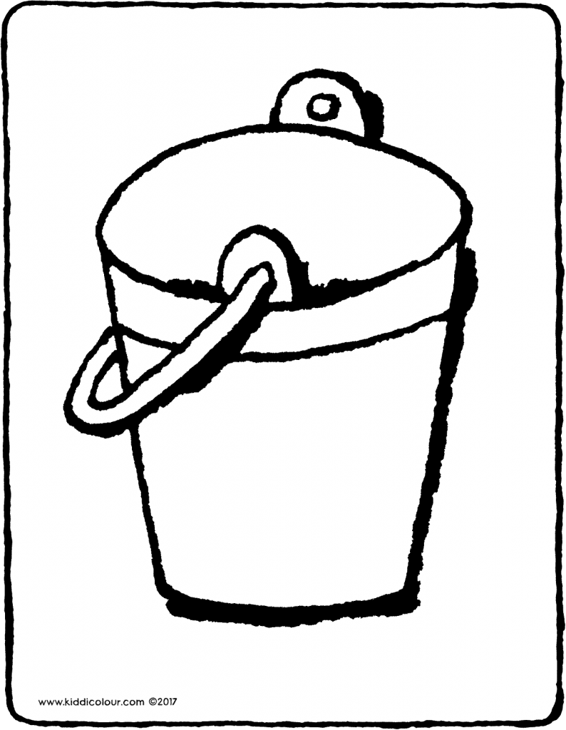 bucket colouring page drawing picture 01V