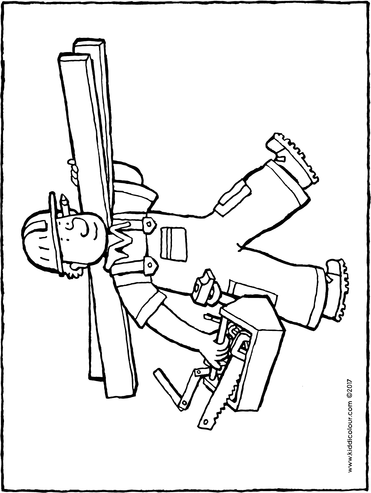 carpenter colouring page drawing picture 01H