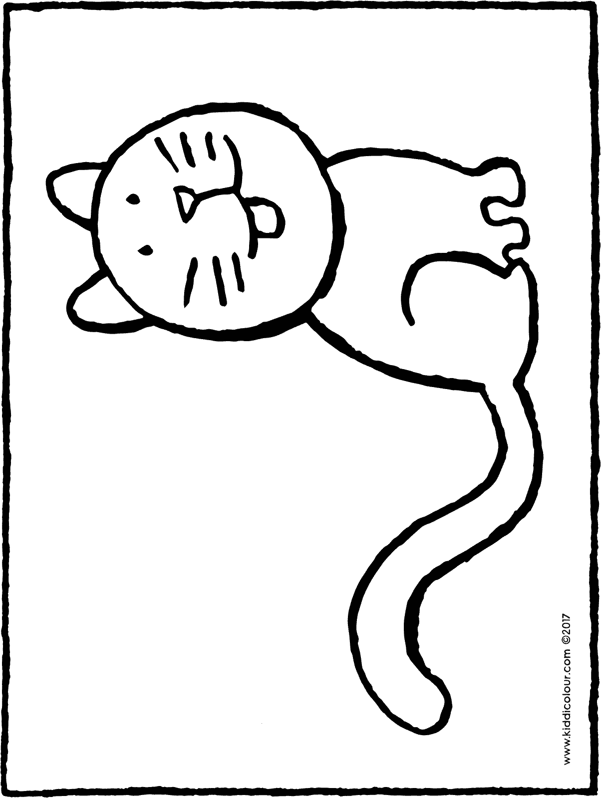 cat colouring page drawing picture 01H