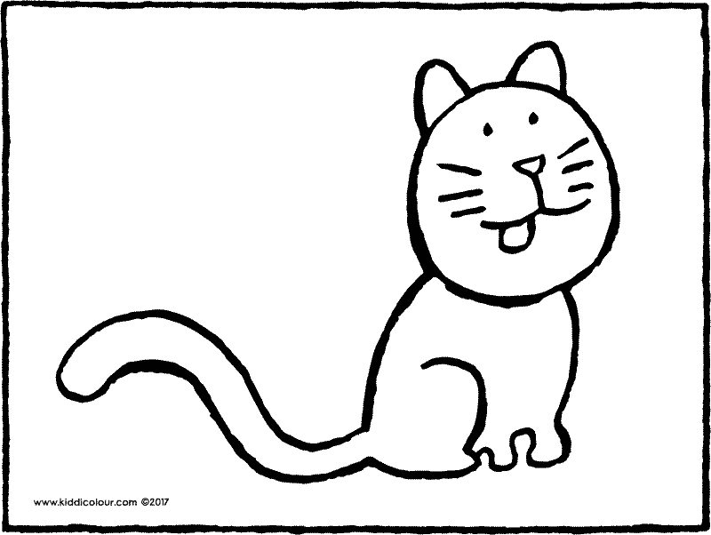 cat colouring page drawing picture 01k