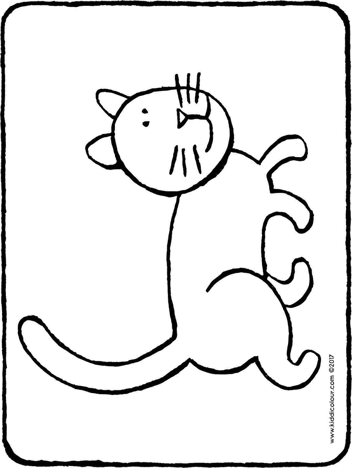 cat colouring page drawing picture 04H