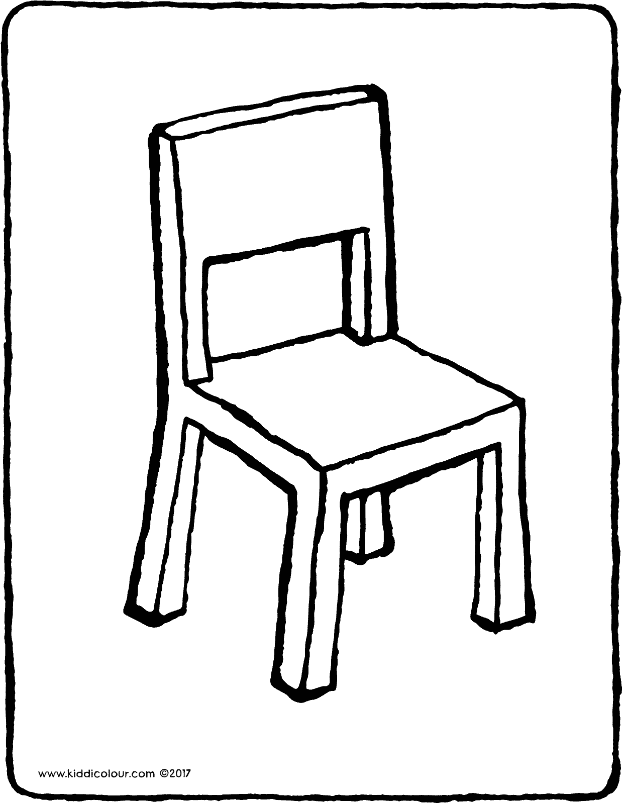 chair colouring page drawing picture 01V