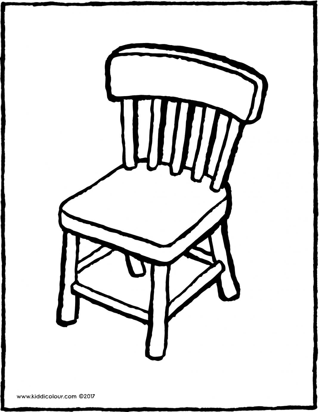chair colouring page drawing picture 02V