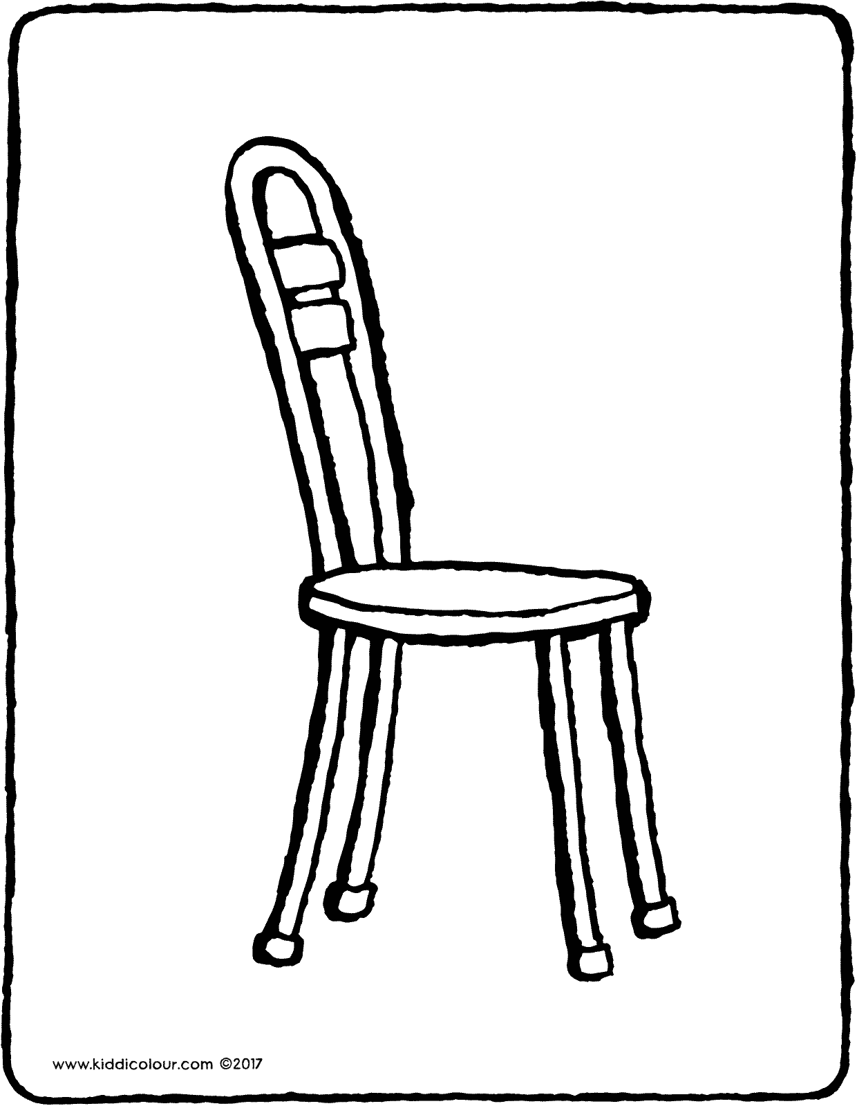 chair colouring page drawing picture 03V