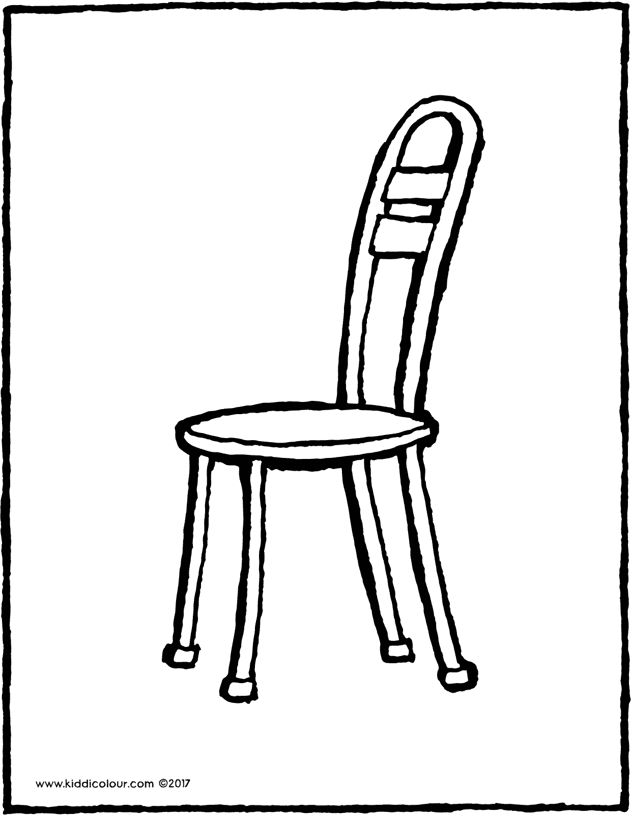 chair colouring page drawing picture 04V