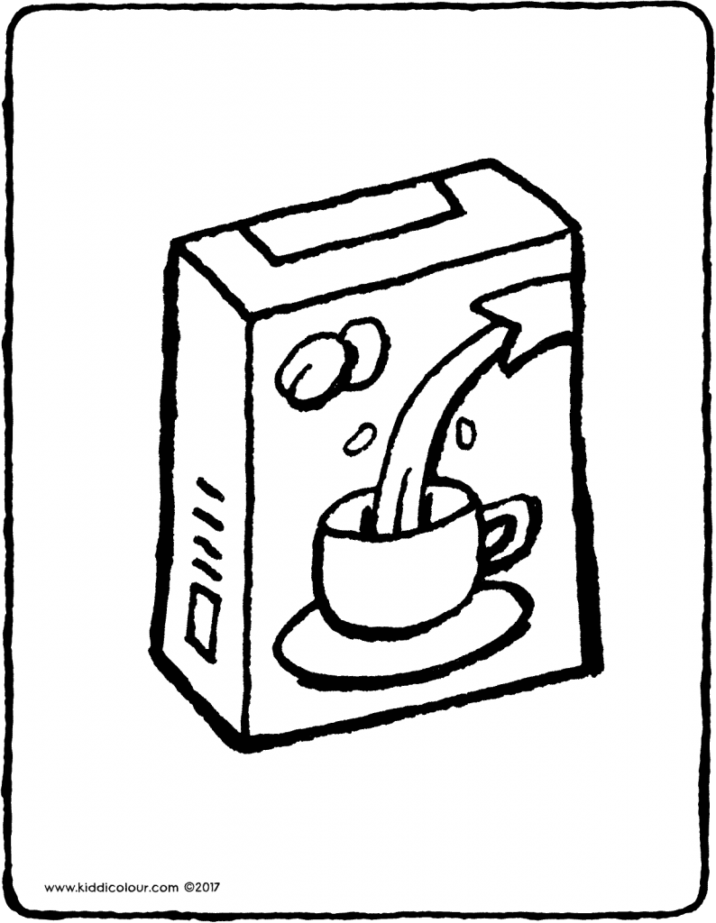 coffee colouring page drawing picture 01V