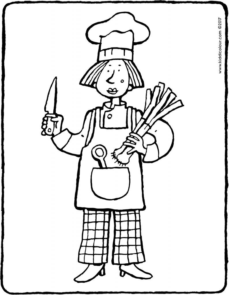 cook colouring page drawing picture 01V