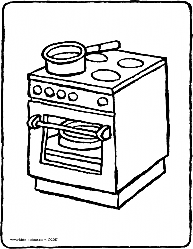 cooker colouring page drawing picture 01V