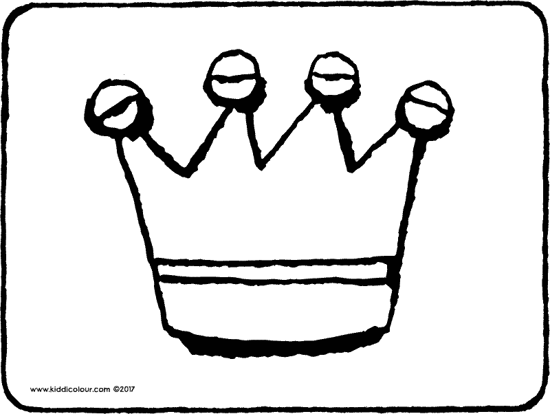 crown colouring page drawing picture 01k