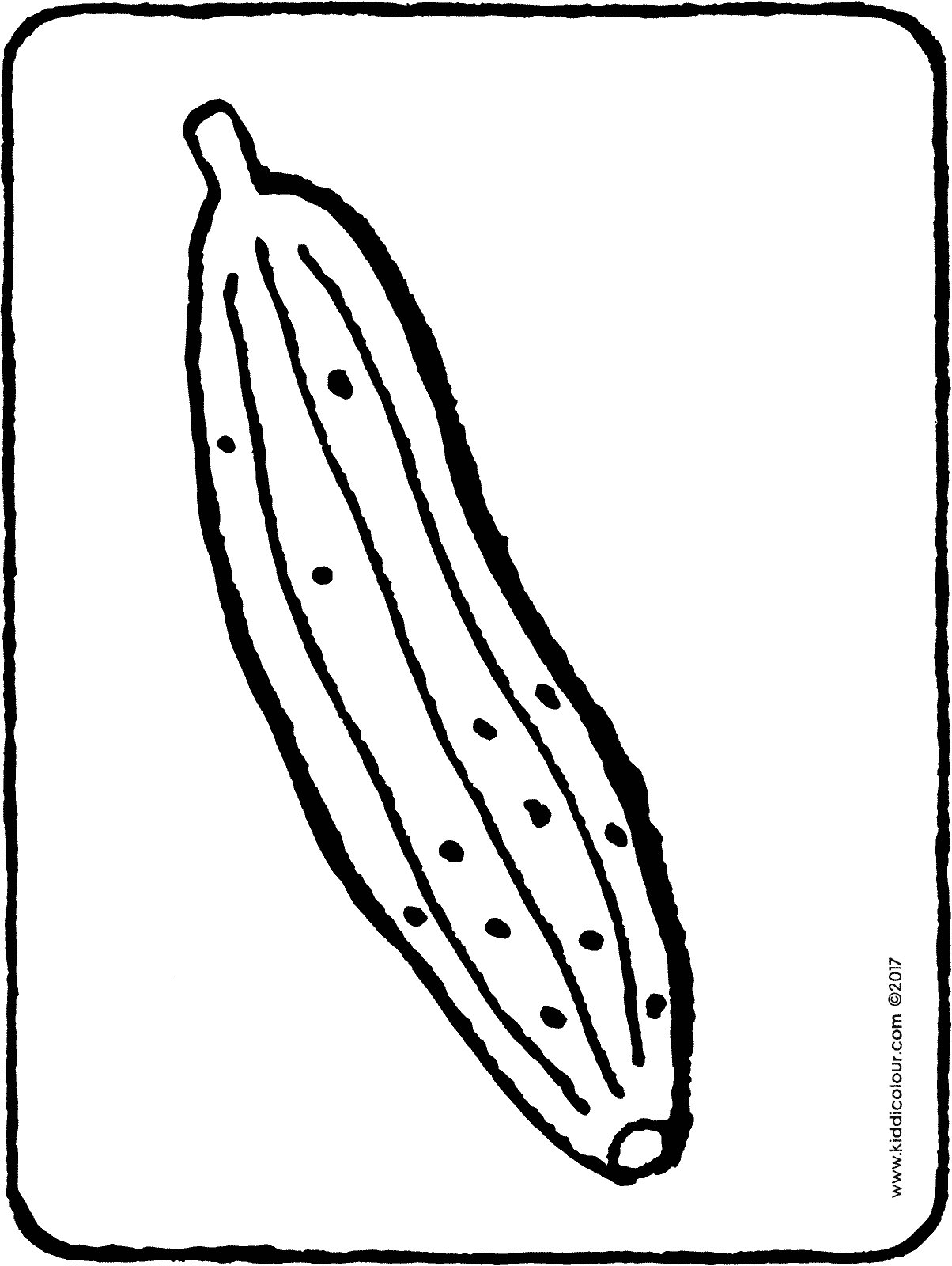cucumber colouring page drawing picture 01H