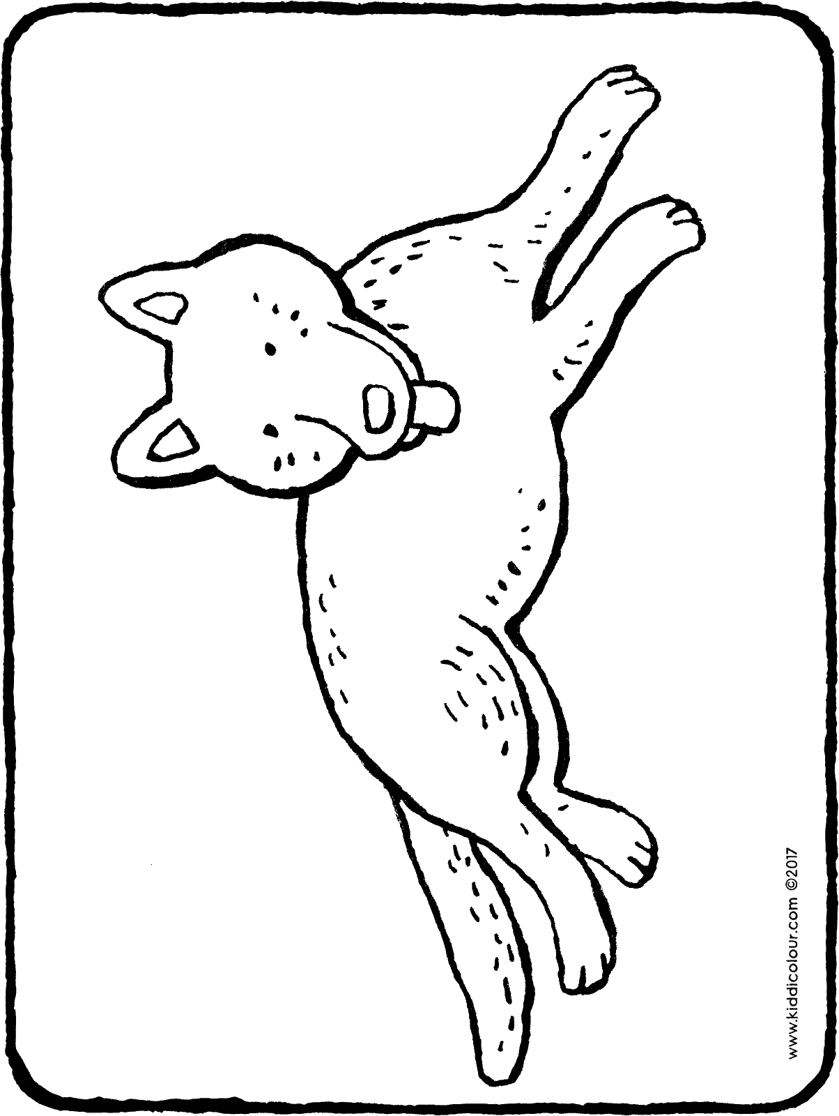 dog having a rest colouring page drawing picture 01H