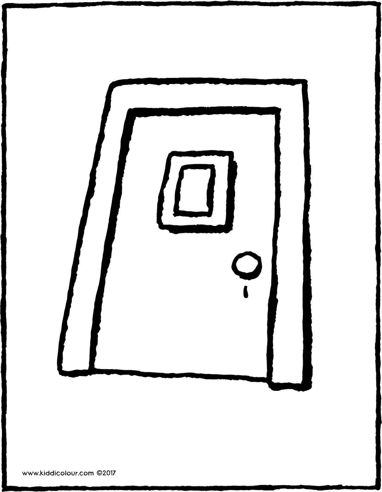 door colouring page drawing picture 01V