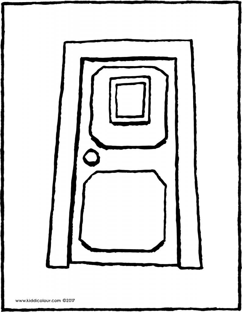 door colouring page drawing picture 02V