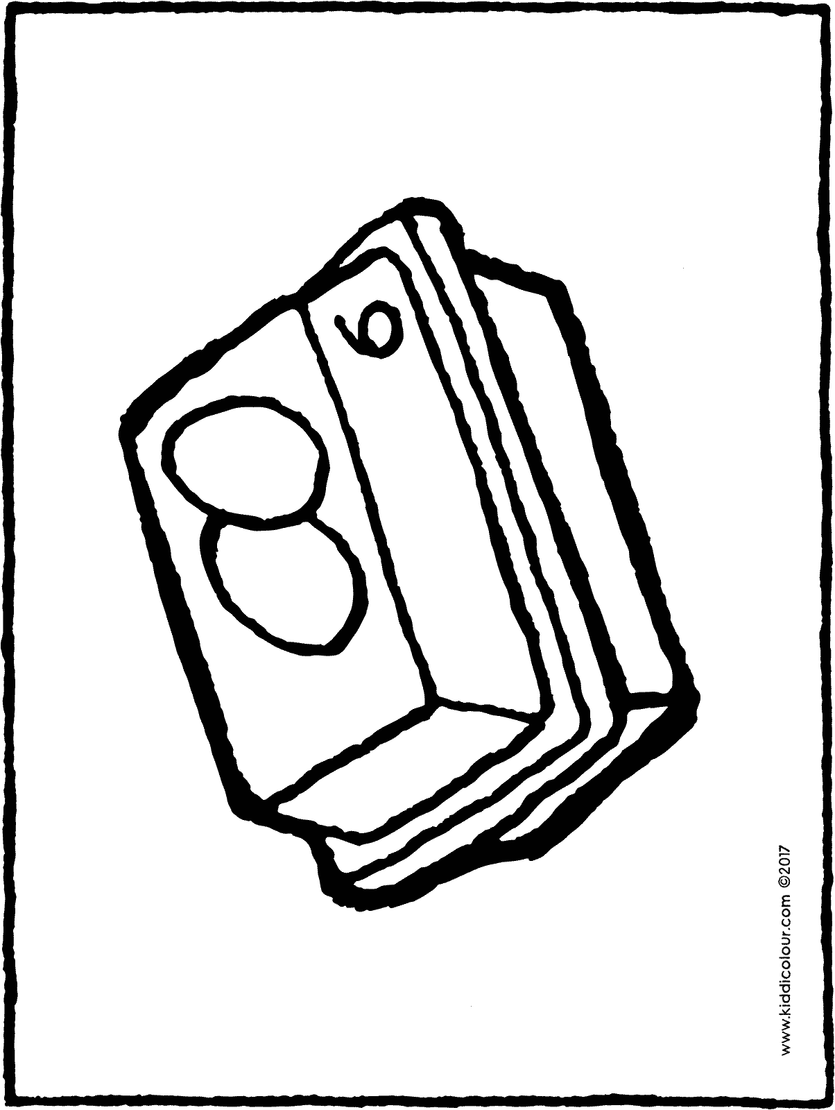 egg box colouring page drawing picture 01H