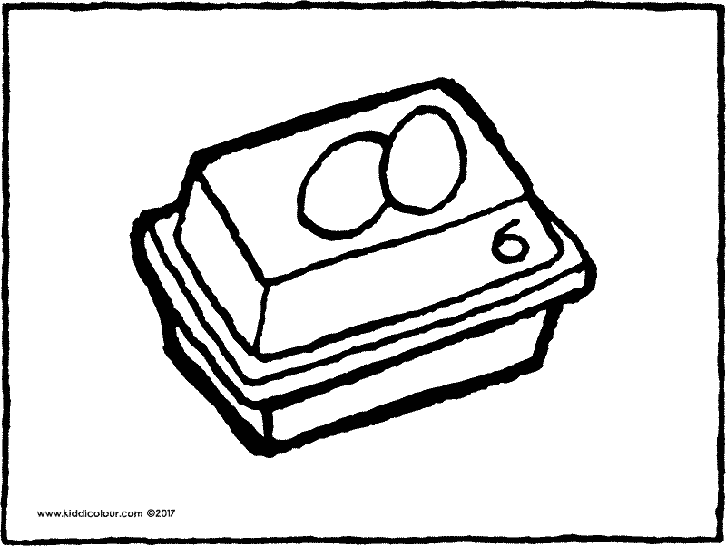 egg box colouring page drawing picture 01k