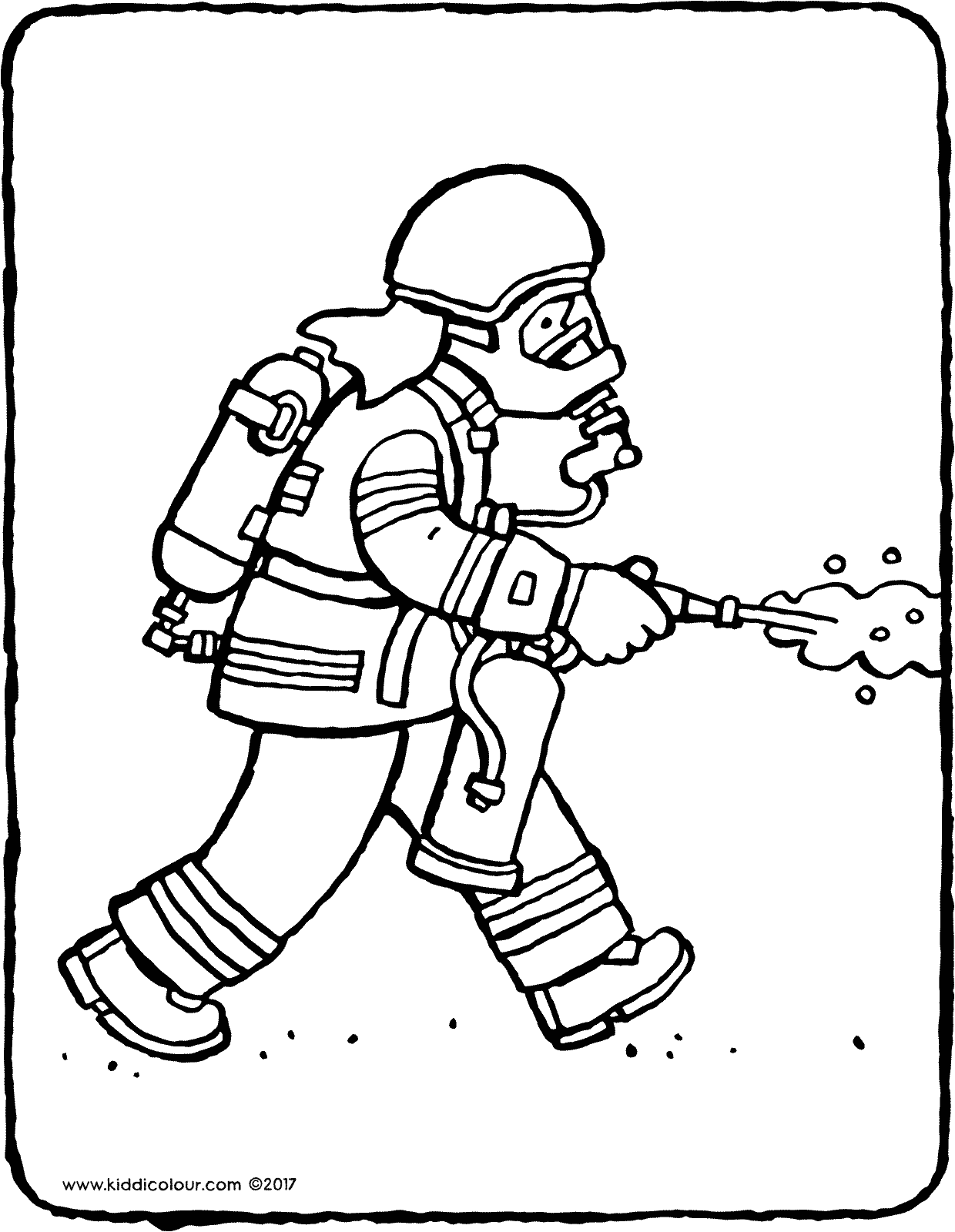 firefighter colouring page drawing picture 01V