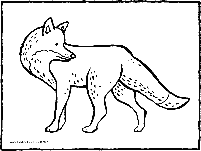 fox colouring page drawing picture 01k