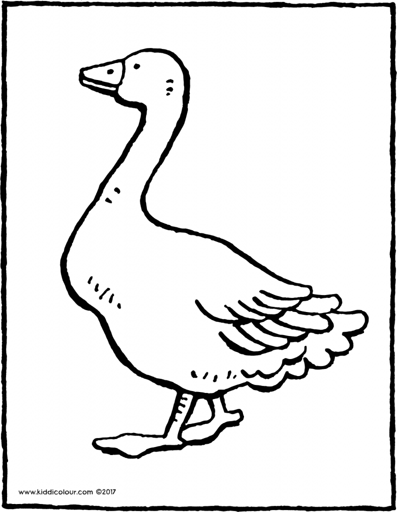 goose colouring page drawing picture 01V