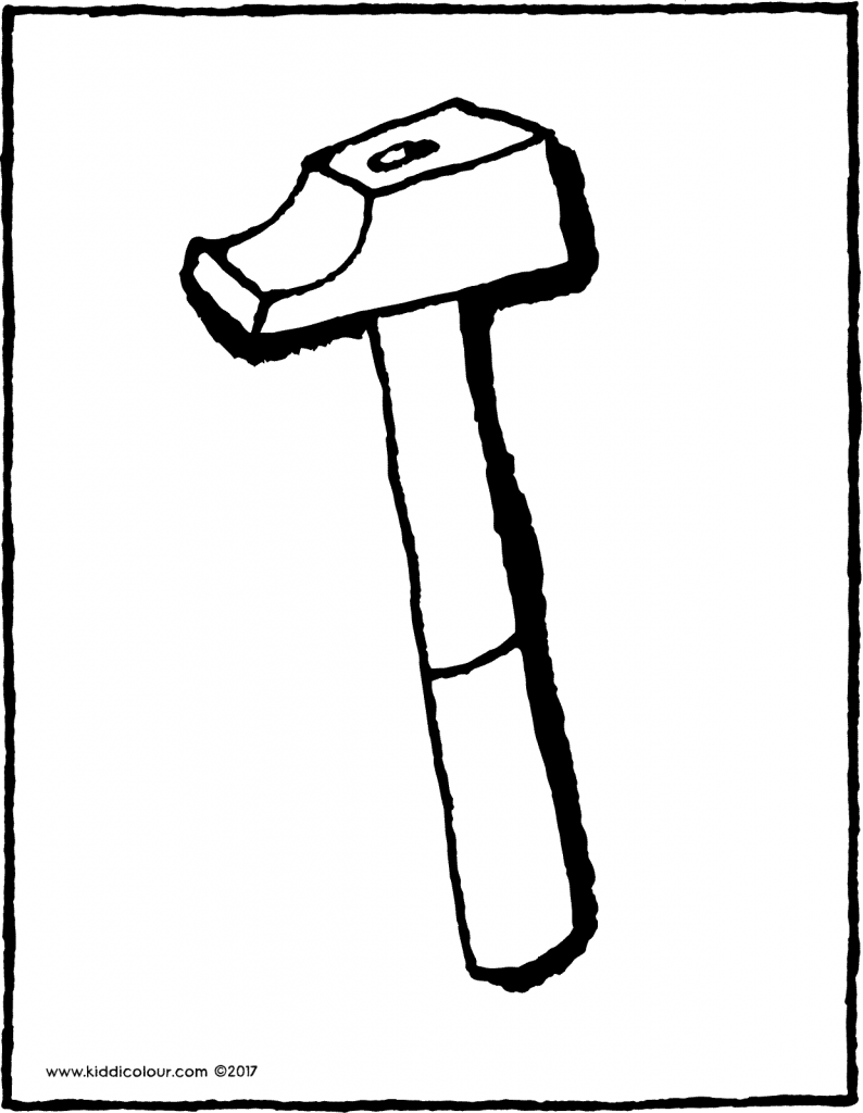 hammer colouring page drawing picture 01V
