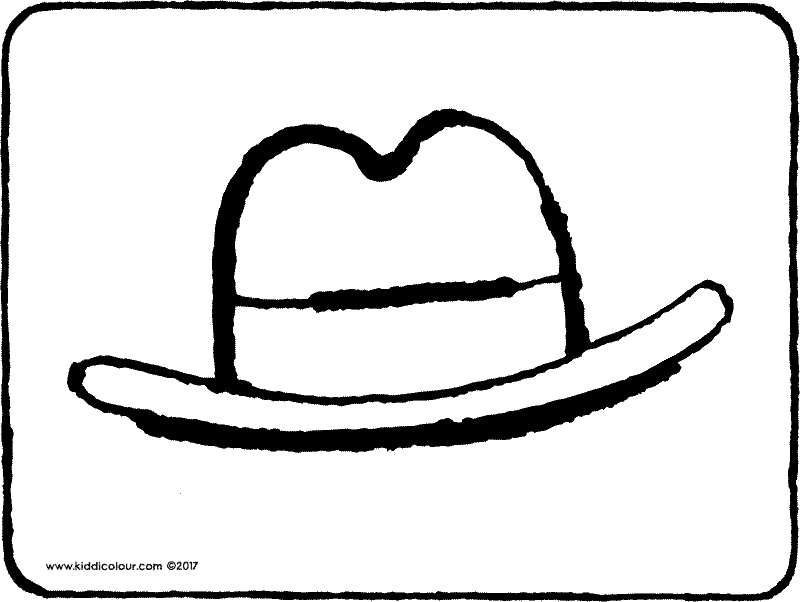 hat colouring page drawing picture 01k