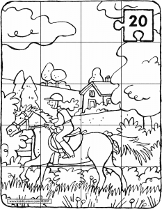 horse riding puzzle