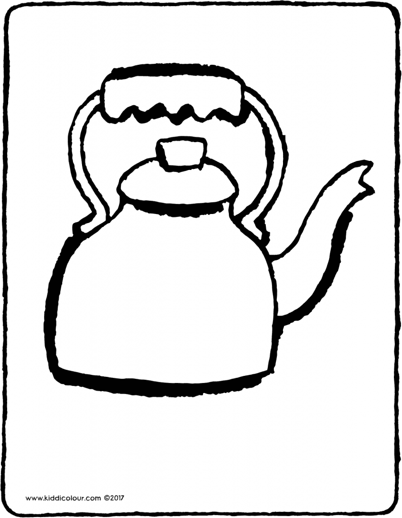 kettle colouring page drawing picture 01V