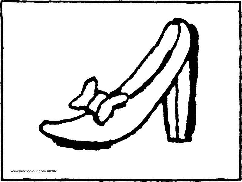 ladies' shoes colouring page drawing picture 01k