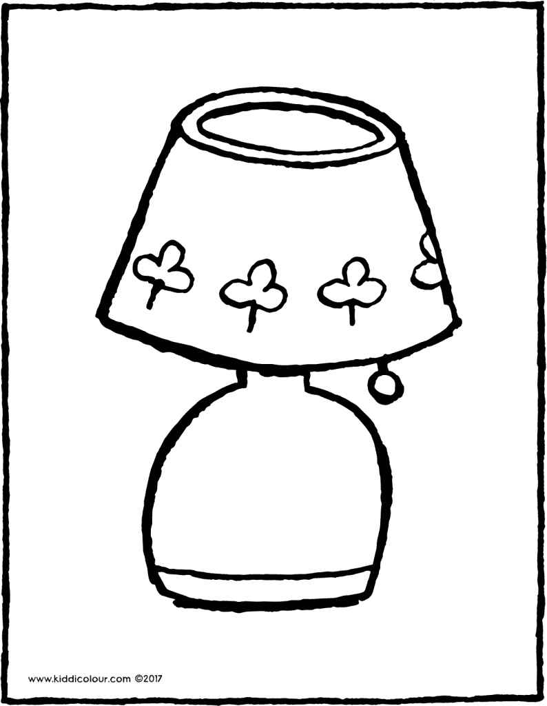 lamp colouring page drawing picture 01V