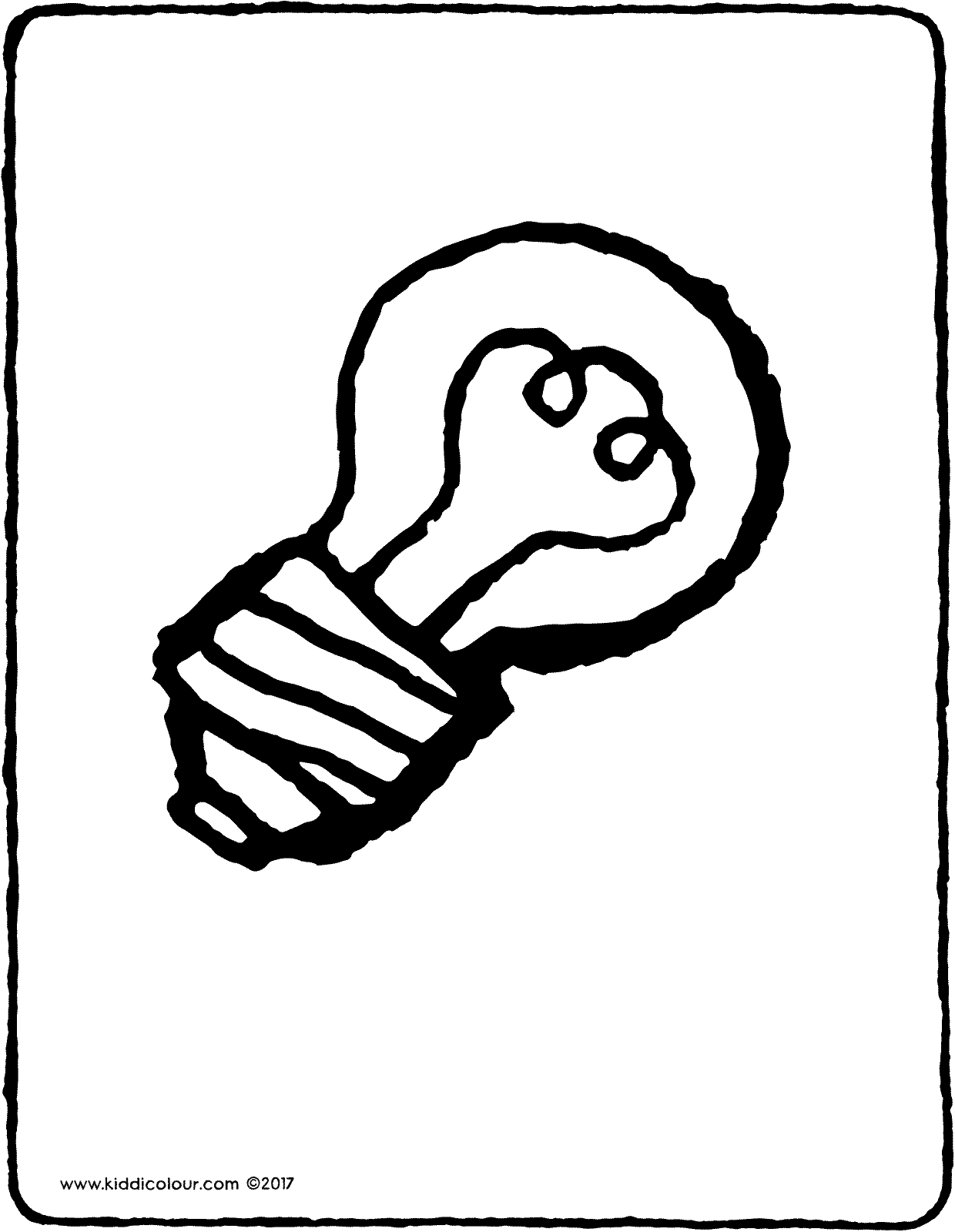 light bulb colouring page drawing picture 01V