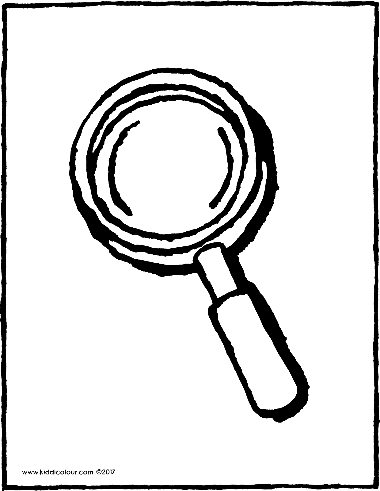 magnifying glass colouring page drawing picture 01V