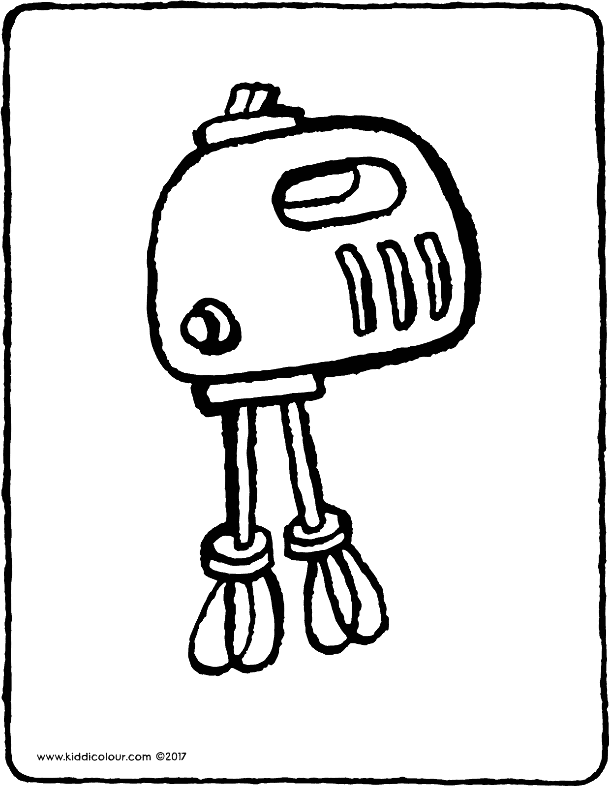 mixer colouring page drawing picture 01V