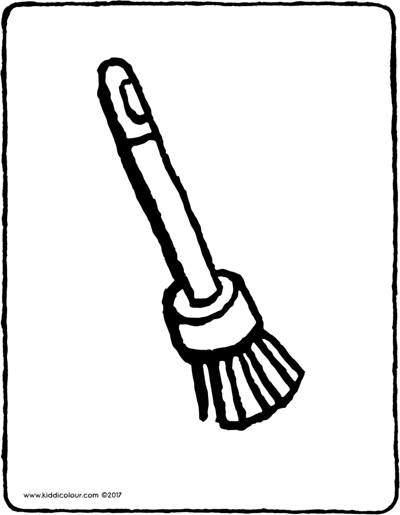paintbrush colouring page drawing picture 01V