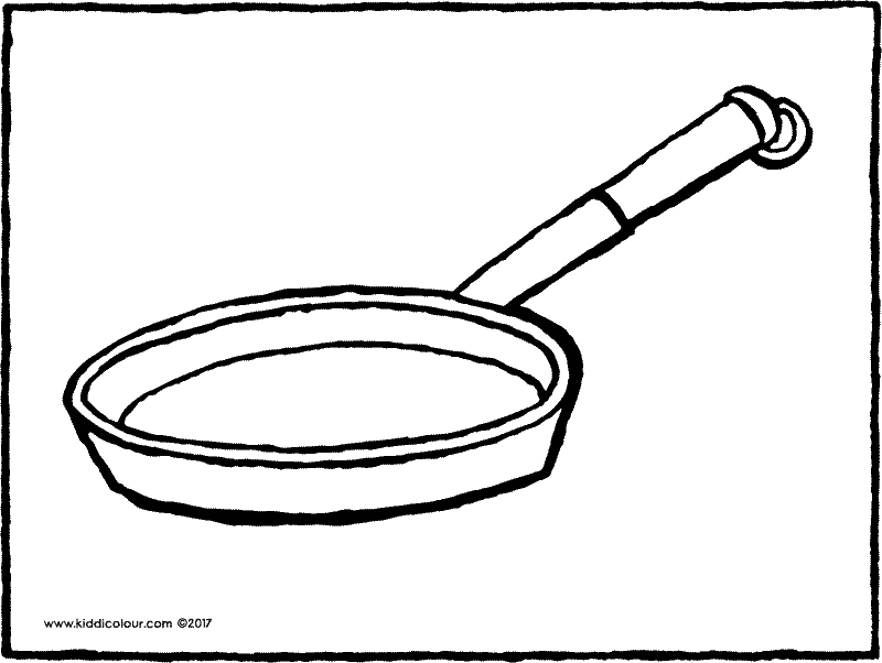 pan colouring page drawing picture 01k