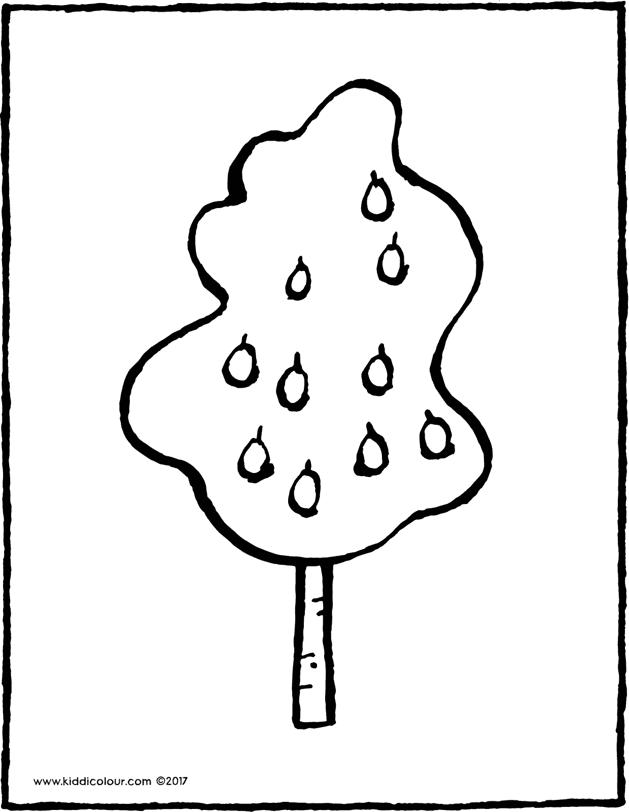 pear tree colouring page drawing picture 03V