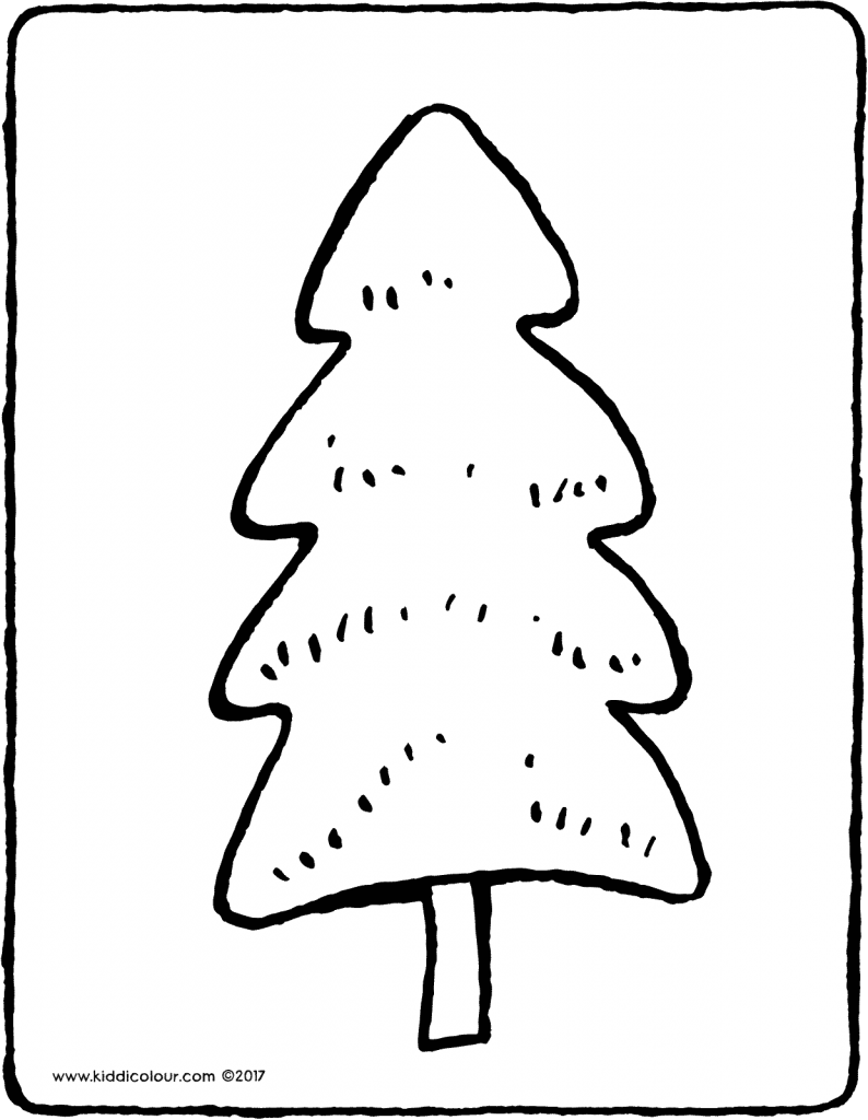 pine colouring page drawing picture 08V